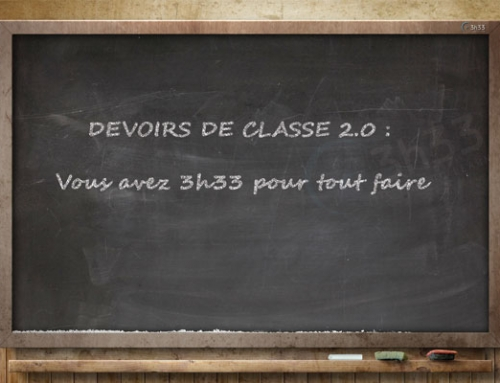Devoirs de classe 2-0 en 3h33